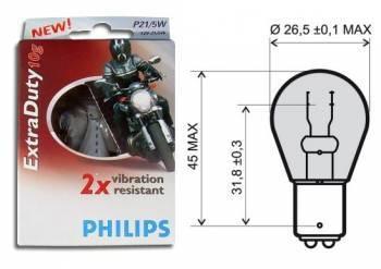 Philips ExtraDuty -polttimo (2kpl), BAY15D, 12V 21/5W, kirkas