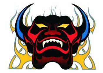 Tarra, pieni, 10x12cm, Demon