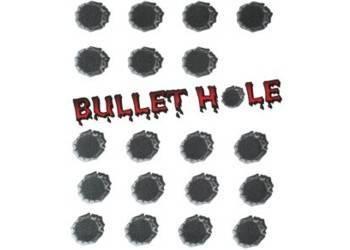 Tarra, normaali, 14x16cm, Bullet Hole