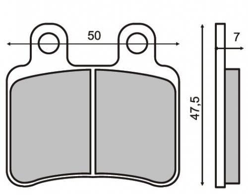 RMS -jarrupalat, Yamaha DT50 04- (2810)