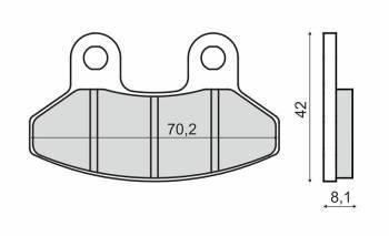RMS -jarrupalat, SYM RS50 (3260)