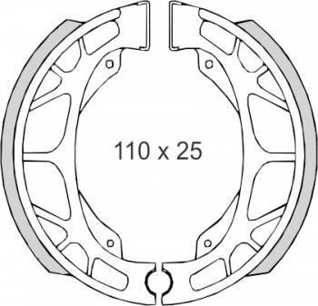 Jarrukengät, Honda Monkey 82- (0091)