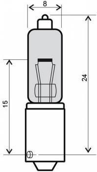 Polttimo, BAY9S halogen, 12V 10W, oranssi