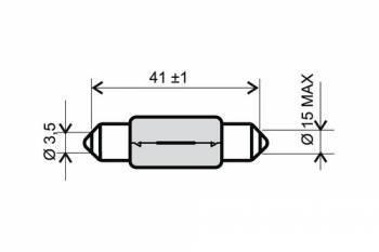 Polttimo, putkilo, 6V 18W, kirkas