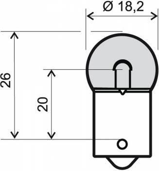 Polttimo, BA15S, 6V 10W, kirkas
