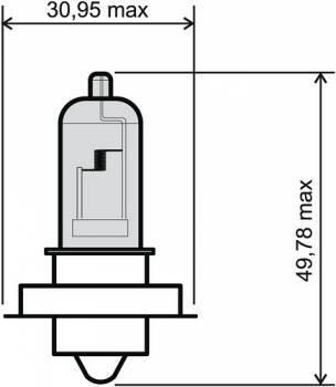 Polttimo, P26S halogen, 12V 20W, kirkas