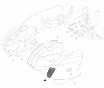Givi -heijastinpari, kirkas, V35