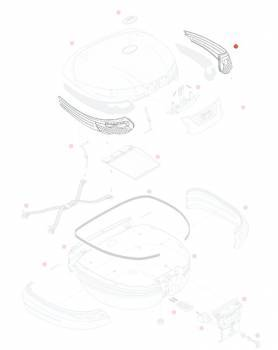 Givi -heijastinpari, punainen, E55 Maxia