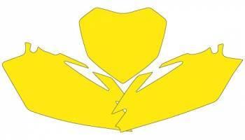 Blackbird -numeropohjat, keltainen, Honda CRF250 06-07