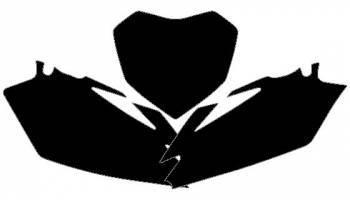 Blackbird -numeropohjat, musta, Honda CR85 03-
