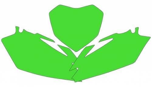 Blackbird -numeropohjat, vihreä, Yamaha YZF250 03-05