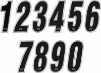 Kilpanumerotarra, 7x15cm, Chrome 0