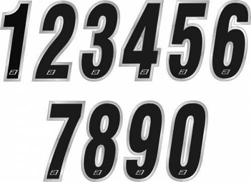 Kilpanumerotarra, 7x15cm, Chrome 9