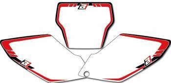 Blackbird Graphic -numeropohjat, valkoinen, Honda CRF250 04-05