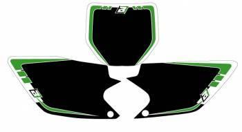 Blackbird Graphic -numeropohjat, musta, Kawasaki KXF450 06-08