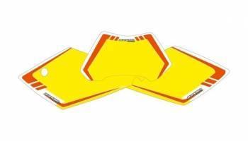 Blackbird Graphic -numeropohjat, keltainen, KTM 125 SX 04-06