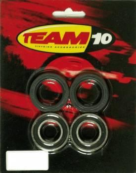 Team10 -pyöränlaakerisarja eteen, CR125 85-94