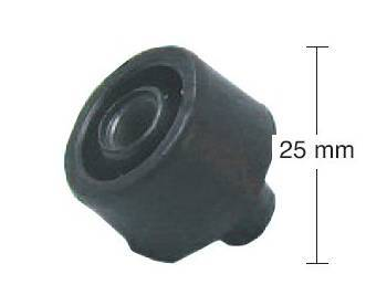 Buzzetti -keskituen kumityyny, 25mm