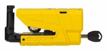 Abus Granit Detecto 8077 XPlus -levyjarrulukko, keltainen