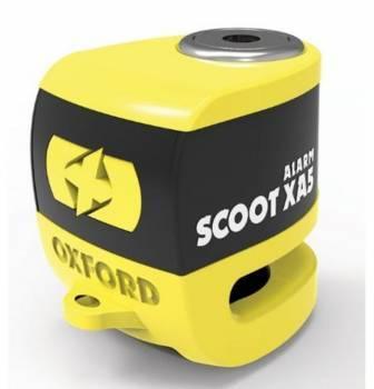 Oxford Scooter XA5 -levyjarrulukko, hälyttävä, keltainen