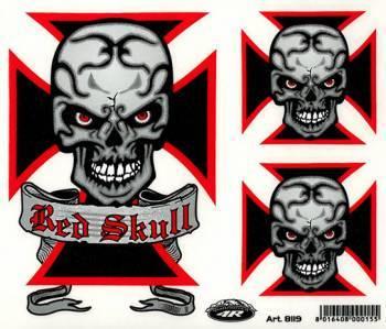 Tarra, normaali, 14x16cm, Red Skull