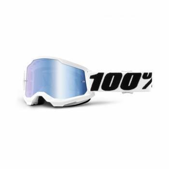 100% Strata 2 -ajolasit, Everest valkoinen (blue chrome)