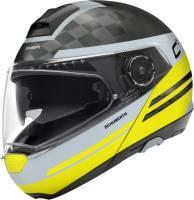 Schuberth C4 Pro Carbon -kypärä, Tempes keltainen/harmaa