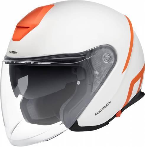 Schuberth M1 Pro -kypärä, Strike valkoinen/oranssi