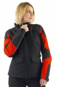 Dainese Adina GTX -ajotakki, musta/punainen