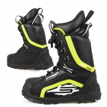 Sweep Snowcore Evo -kelkkasaappaat, musta/keltainen