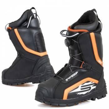 Sweep Snowcore Evo R -kelkkasaappaat, musta/oranssi