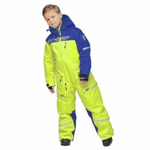 Sweep Snowcore Evo 2.0 Junior -kelkkahaalarit, sininen/keltainen