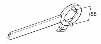 Buzzetti -väännin kytkimen mutterille, Piaggio/Gilera (34mm)