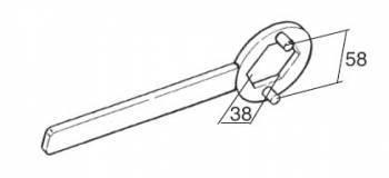 Buzzetti -väännin kytkimen mutterille, Minarelli/Peugeot (38mm)