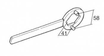 Buzzetti -väännin kytkimen mutterille, Minarelli/Peugeot (41mm)