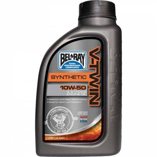 Bel-Ray V-Twin Synthetic, 4T-öljy 10W-50, 1L
