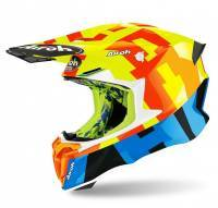 Airoh Twist 2.0 -kypärä, Frame keltainen/sininen