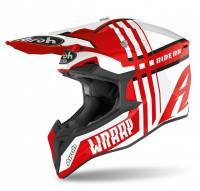 Airoh Wraap -kypärä, Broken valkoinen/punainen