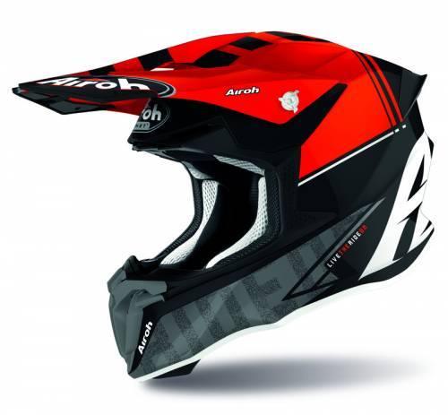 Airoh Twist 2.0 -kypärä, Tech musta/punainen