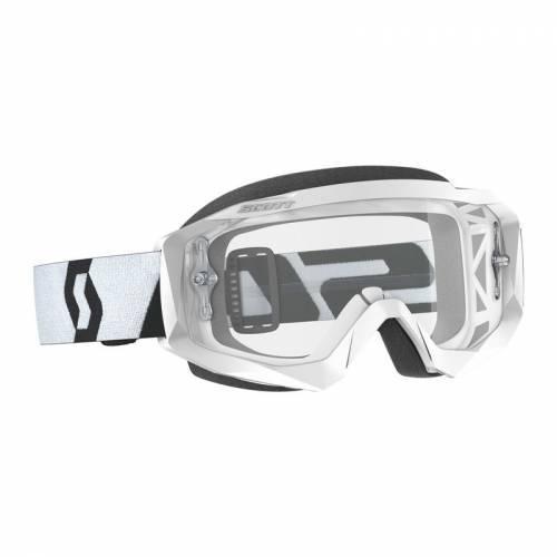 Scott Hustle X MX -ajolasit, valkoinen (clear)