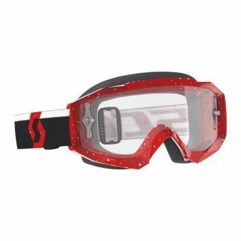 Scott Hustle X MX -ajolasit, punainen (clear)