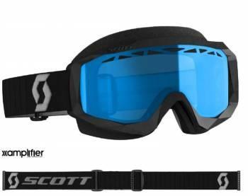 Scott Hustle SX -ajolasit, musta (teal chrome)