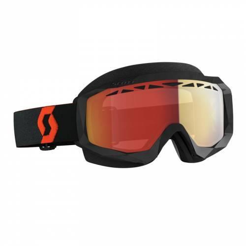 Scott Hustle SX -ajolasit, musta (red chrome)