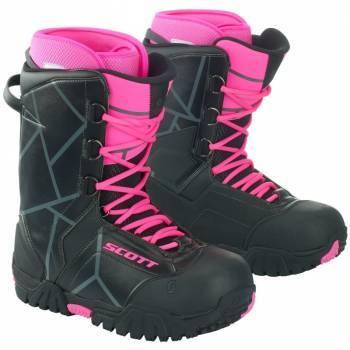 Scott X-Trax -kelkkasaappaat, musta/pinkki