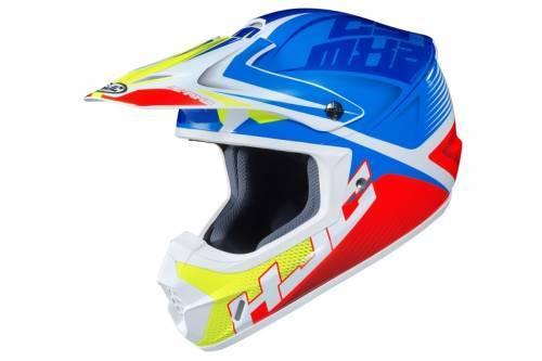 HJC CS-MX 2 -kypärä, Ellusion sininen/punainen/keltainen