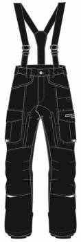 Snow Code Sport -ajohousut, musta