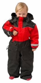 SnowPeople Safari Junior -kelkkahaalarit, musta/punainen