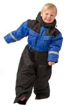 SnowPeople Safari Junior -kelkkahaalarit, musta/sininen