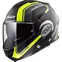 LS2 FF399 Valiant -kypärä, musta/keltainen