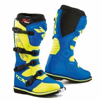 TCX X-Blast -crossisaappaat, sininen/keltainen